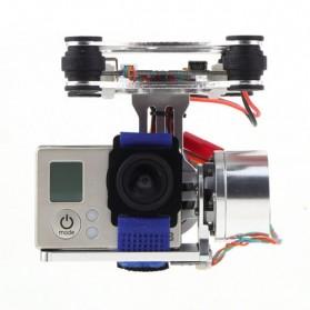 Light DJI Phantom GoPro CNC Brushless Motor Camera Gimbal with BGC ControllerRTF - Silver - 6