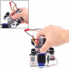 Light DJI Phantom GoPro CNC Brushless Motor Camera Gimbal with BGC ControllerRTF - Silver - 7