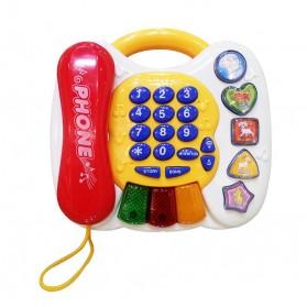 Mainan Bayi - Preschool Educational Telephone Music Instrument Kids Toys - White