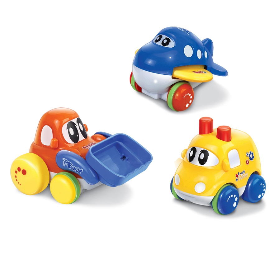 Cute Small Team Vechiles Kids Toys Simple Box