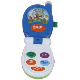 Educational Small Music Mobile Flip Phone Kids Toys - Blue