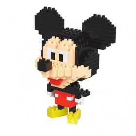 Puzzle Microparticles Blocks Mickey Kids Toys - Multi-Color