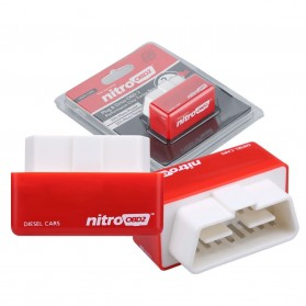 Nitro OBD2 Plug & Drive Performance Horsepower Torque Chip Tuning Box (Mobil Disel) - Red