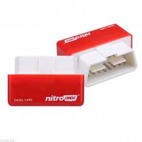 Nitro OBD2 Plug & Drive Performance Horsepower Torque Chip Tuning Box (Mobil Disel) - Red - 6