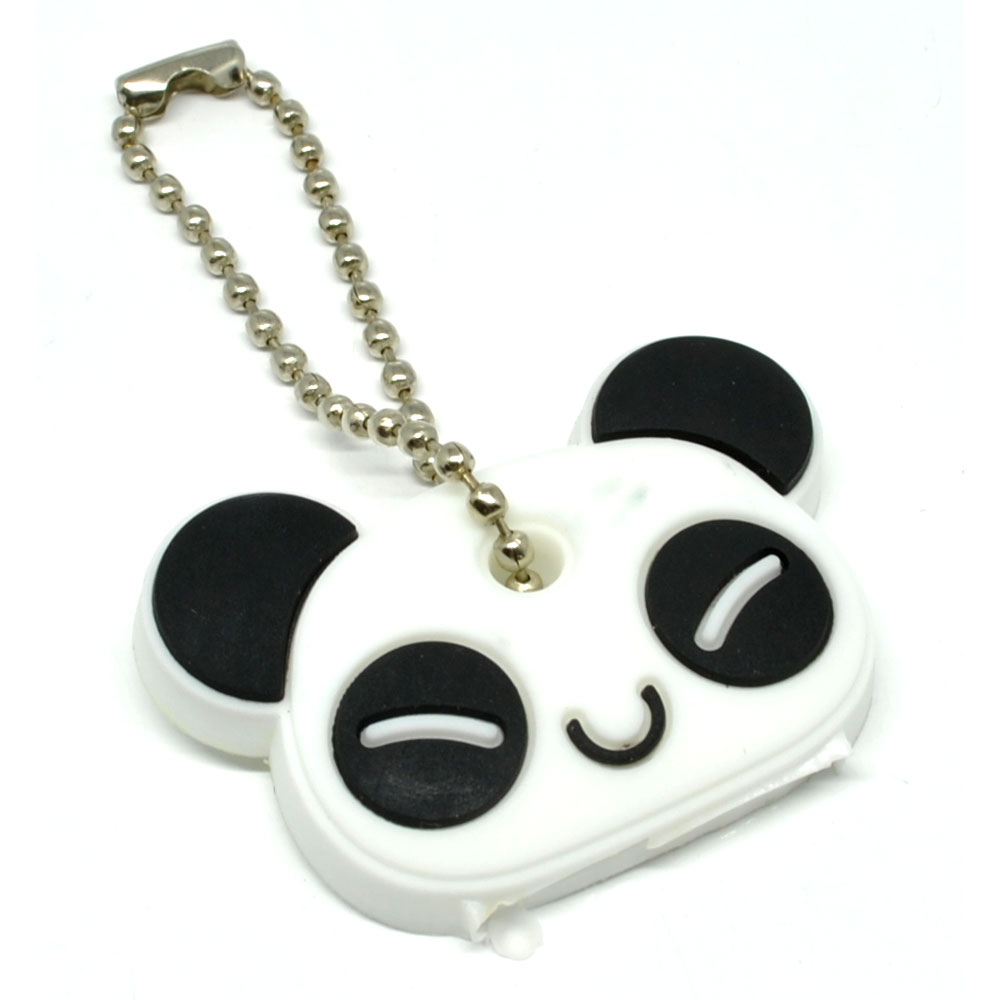 Creative Cute Panda Key Chain Holder Gantungan Kunci White Tempat 2