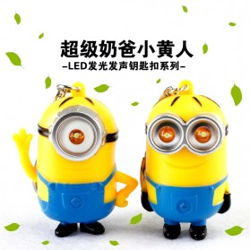 Despicable Me Minion Keychain LED Eye - Two Eye Minion / Gantungan Kunci Minion - Yellow