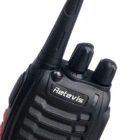 Retevis Walkie Talkie 2 Way Radio 16 Channel UHF400-470MHz 1PCS - H-777 - Black - 2