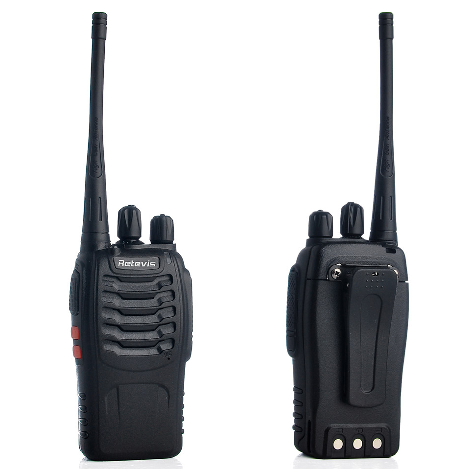 retevis walkie talkie 2 way radio 16 channel uhf400 470mhz 1pcs h 777 black. Black Bedroom Furniture Sets. Home Design Ideas