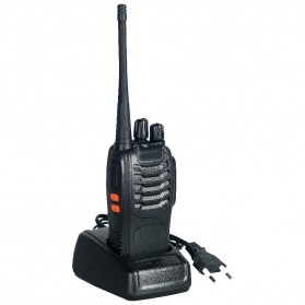 Taffware Walkie Talkie Single Band 16CH UHF - BF-888S - Black