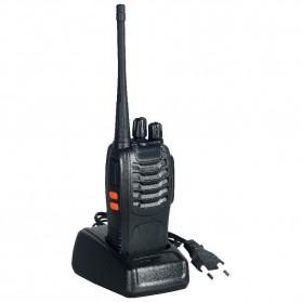 Pofung Taffware Walkie Talkie Single Band 16CH UHF - BF-888S - Black