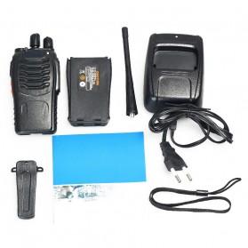 Taffware Walkie Talkie Single Band 16CH UHF - BF-888S - Black - 8