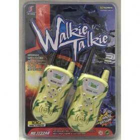 Walkie Talkie / Handy Talkie - Ji Yuan Mainan Walkie Talkie 1 Pair - 7732AB - Coffee