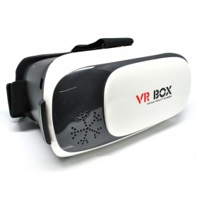 VR Box Second Generation Virtual Reality Cardboard for Smartphone - White - 2