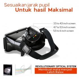 RITECH VR Cardboard 3D Virtual Reality 3rd Generation - RIEM 3 - White - 3