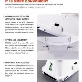 RITECH VR Cardboard 3D Virtual Reality 3rd Generation - RIEM 3 - White - 7
