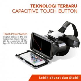 RITECH VR Cardboard 3D Virtual Reality 3rd Generation - RIEM 3 - White - 10