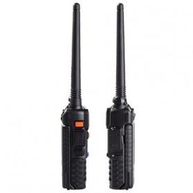 Taffware Walkie Talkie Dual Band 5W 128CH UHF+VHF - BF-UV-5R - Black - 2