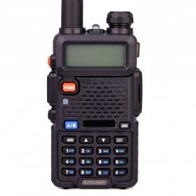 Taffware Walkie Talkie Dual Band 5W 128CH UHF+VHF - BF-UV-5R - Black - 3