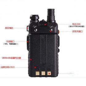 Taffware Walkie Talkie Dual Band 5W 128CH UHF+VHF - BF-UV-5R - Black - 5