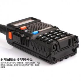 Taffware Walkie Talkie Dual Band 5W 128CH UHF+VHF - BF-UV-5R - Black - 6