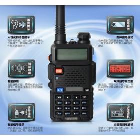 Taffware Walkie Talkie Dual Band 5W 128CH UHF+VHF - BF-UV-5R - Black - 8