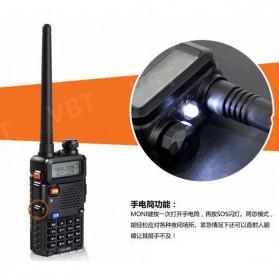 Taffware Walkie Talkie Dual Band 5W 128CH UHF+VHF - BF-UV-5R - Black - 9