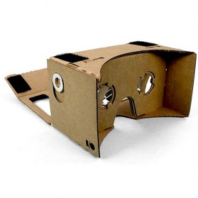 Cardboard Virtual Reality Large Size for Smartphone up to 6 Inch - Black Magnet