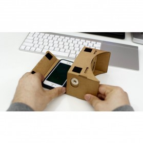 Cardboard Virtual Reality Large Size for Smartphone up to 6 Inch - Black Magnet - 2