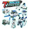 Mainan - 7 in 1 Transforming Space Fleet Solar Robot Science & Education DIY Toys Kids