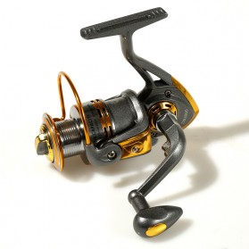 Debao Gulungan Pancing DB3000A Metal  Fishing Spinning Reel 10 Ball Bearing - Golden