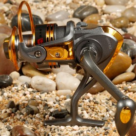 Debao Gulungan Pancing DB3000A Metal  Fishing Spinning Reel 10 Ball Bearing - Golden - 3