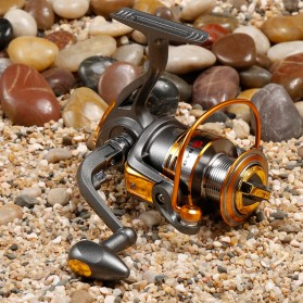 Debao Gulungan Pancing DB3000A Metal  Fishing Spinning Reel 10 Ball Bearing - Golden - 5