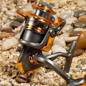 Debao Gulungan Pancing DB3000A Metal  Fishing Spinning Reel 10 Ball Bearing - Golden - 6