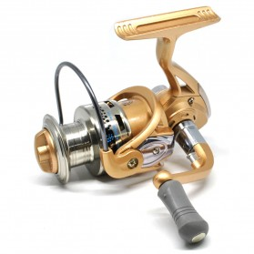 Fanshun Gulungan Pancing FB4000 Metal  Fishing Spinning Reel 10 Ball Bearing - Golden