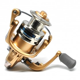 Fanshun Gulungan Pancing FH4000 Metal  Fishing Spinning Reel 10 Ball Bearing - Golden - 4
