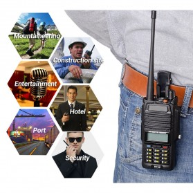 Taffware Walkie Talkie Dual Band 5W 128CH UHF+VHF - BF-R760 - Black - 6