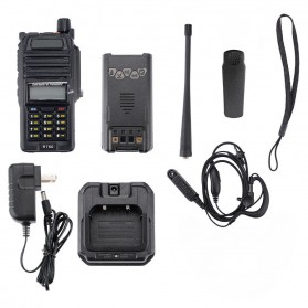 Taffware Walkie Talkie Dual Band 5W 128CH UHF+VHF - BF-R760 - Black - 7