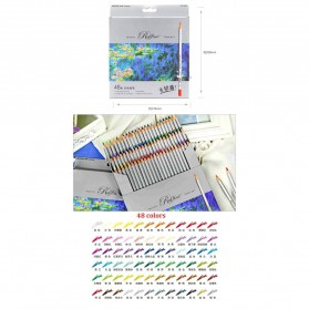 Marco Raffine Pensil Warna Drawing Sketches 48 Colors - Multi-Color - 2