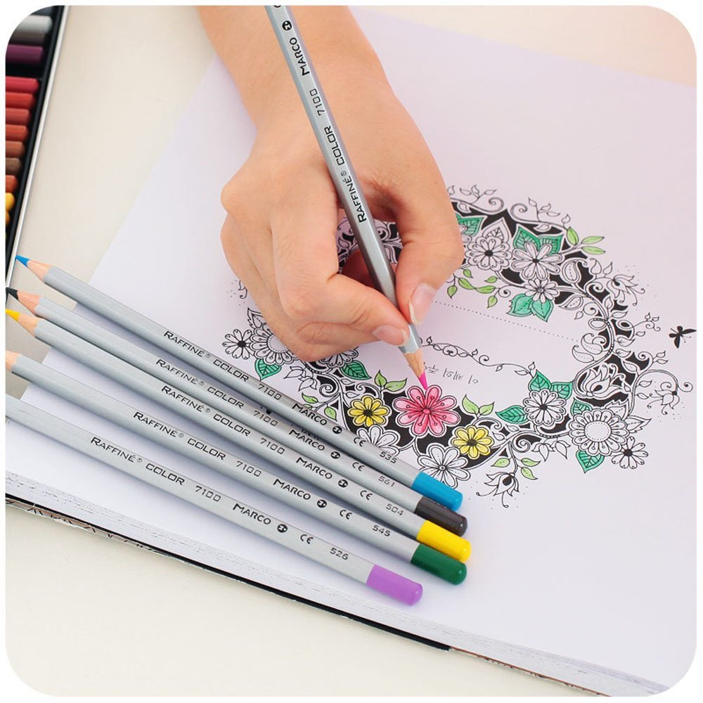 Marco Raffine Pensil Warna Drawing Sketches 48 Colors Multi Color