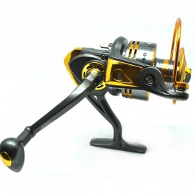 Debao Gulungan Pancing DB6000A Metal Fishing Spin Reel 10 Ball Bearing - Golden