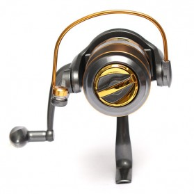 Debao Gulungan Pancing DB6000A Metal Fishing Spin Reel 10 Ball Bearing - Golden - 4