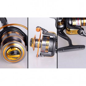 Debao Gulungan Pancing DB6000A Metal Fishing Spin Reel 10 Ball Bearing - Golden - 7