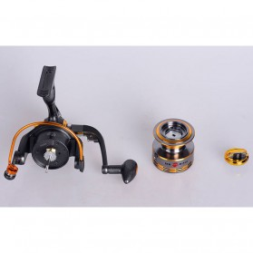 Debao Gulungan Pancing DB6000A Metal Fishing Spin Reel 10 Ball Bearing - Golden - 9