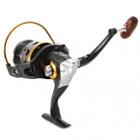 DIAO DE LAI Gulungan Pancing DK11BB - 6000 Series Metal  Fishing Spinning Reel 11 Ball Bearing - Golden - 3