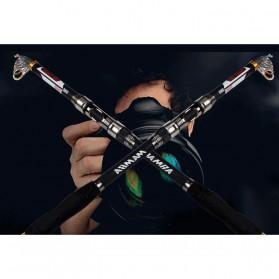 Mamba Joran Pancing Carbon Fiber Sea Fishing Rod 3 Segments 2.4M - Black - 3