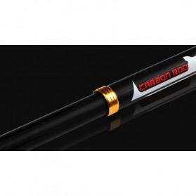 Mamba Joran Pancing Carbon Fiber Sea Fishing Rod 3 Segments 2.4M - Black - 5