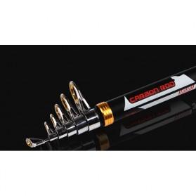 Mamba Joran Pancing Carbon Fiber Sea Fishing Rod 6 Segment 3.0M - JD25 - Black - 3