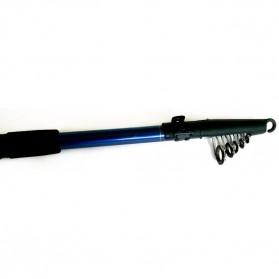 Joran Pancing Fiber Glass Sea Fishing Rod 5 Segments 2.45M - TY-60 - Black - 6
