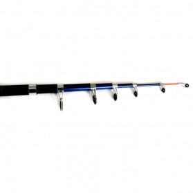 Joran Pancing Fiber Glass Sea Fishing Rod 5 Segments 2.45M - TY-60 - Black - 7