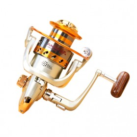 Yumoshi Gulungan Pancing EF6000 Metal Fishing Spinning Reel 12 Ball Bearing(rebrand) - Golden